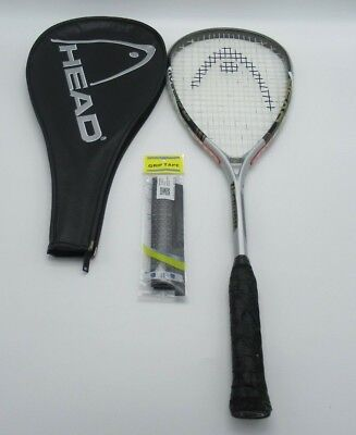 head ti crush 5000  titanium mesh vibration control squash racket with cover
