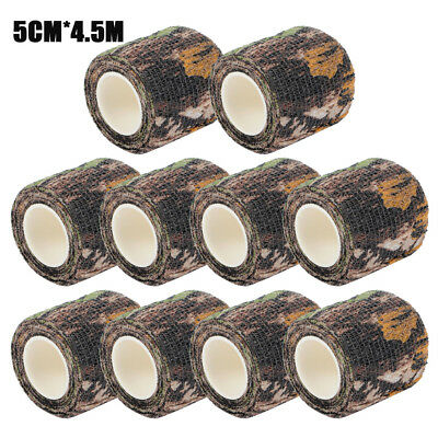 10pcs Military Bionic Camouflage Rifle Gun Wrap Hunting Camping Stealth Tape