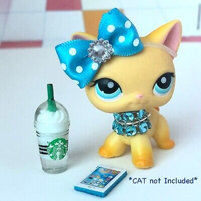 Littlest Pet Shop LPS Clothes Accessories Starbucks Outfit *CAT NOT INCLUDED*
