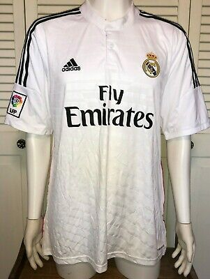 a7d3e62359a Adidas Real Madrid 2014 15 Home Kit Men s XL Size Authentic Soccer Jersey