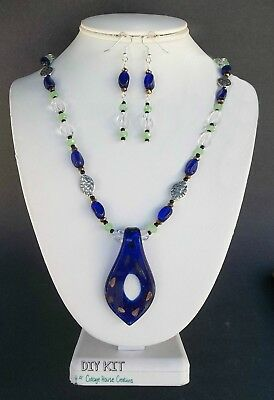 New Crystal Beads /& Silver Gatsby Necklace Beading Kit with Instructions TAR121
