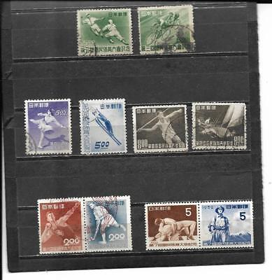 22Stamps From Japan Featuring Sports Scott Cat #420//640 2019 Scott Cat Val $79.