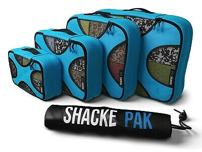 Shacke Pak 4 Set Packing Cubes Travel Organizers with Laundry Bag Space Saver