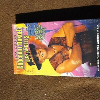 VHS Crocodile Dundee in Los Angeles Paul Hogan Rated PG Brand New Sealed Comedy