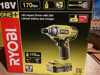 Ryobi ONE+ R18IDP-120S 18V 170Nm Impact Driver, Battery, Charger & Case