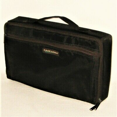 Conductor Series 30 Cassette Carrying Case Black Nylon With Front Pocket Music