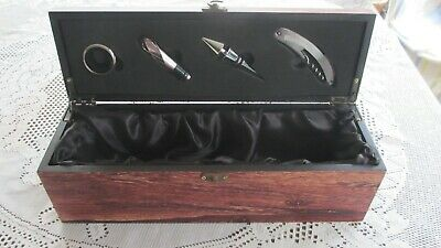 Wine Box ,Satin Lined, 4 Bar Tools unused