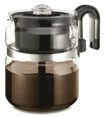 Stovetop Glass Percolator Coffee Pot Maker 8 CUP Gas Electric Stove