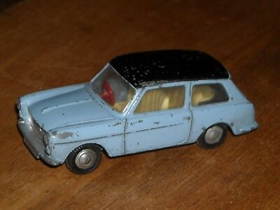 Vintage Tri-ang Spot-On blue black 154 Austin A40 1:42 scale red steering wheel