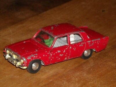 Vintage Tri-ang Spot-On red Ford Zephyr Six 270 with driver and dog 1:42 scale