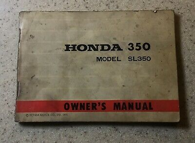 original oem owners manual honda 1971 sl350 350 w/ wiring diagram
