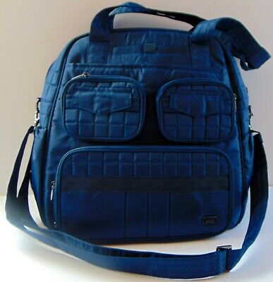 Lug Full Size Royal Blue Puddle Jumper Tote Gym Diaper Bag