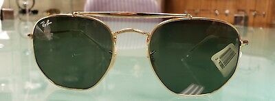 41aafd134bd Ray Ban Sunglasses Marshal RB3648 001 54MM Gold Frame Green G-15 Lens