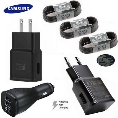 Original Samsung Galaxy S10 S10e S9 Plus Wall Adaptive Fast+Car Charger+Type -C