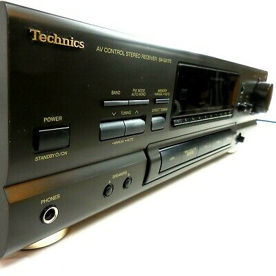 Vintage Stereo Receiver Technics SA-GX170 Serviced 80 Watts Per Channel JAPAN