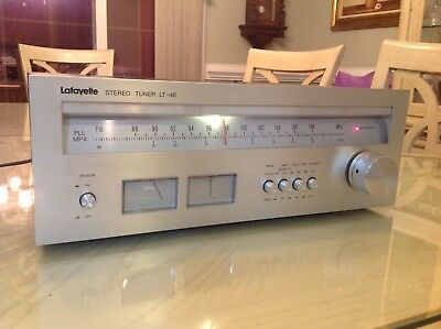Lafayette Stereo Tuner Model LT-40 Works Great w/ Original Boxes & Inserts!