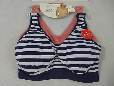 56cb5392e7 Marilyn Monroe Seamless Comfort Bras W Removable Pads Sports Bras Navy Pink  New