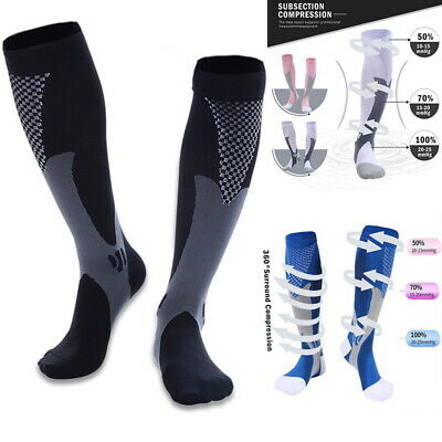 3013ee006 Compression Compress Socks Knee High Stockings Athletic Running Pregnancy