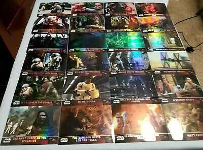 Lot Of 24 2016 Topps Star Wars Chrome New Refractor Trading Cards Swccg Gaming