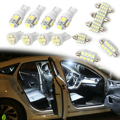 T10 White LED Interior Inside Light Dome Trunk Map License Plate Lamp Bulb 14PCS