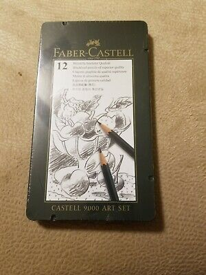 Faber-Castell 9000 Graphite Sketch Pencil Sets Art 8B - 2H set of 12 New