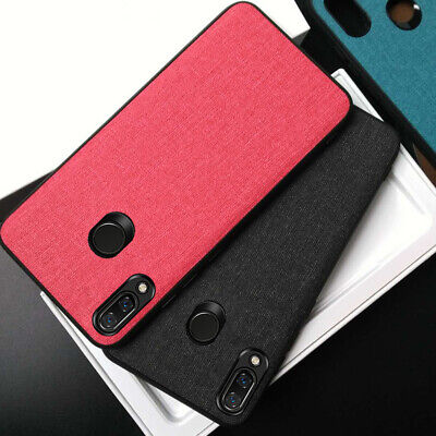 For Xiaomi Redmi Note 7 6 5 Pro 6A Fabric Soft TPU Leather Shockproof Case Cover