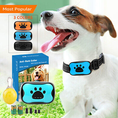 Dog Anti Bark Collar Stop Pet Barking S/M/L Adjustable Sound & Vibration Strap