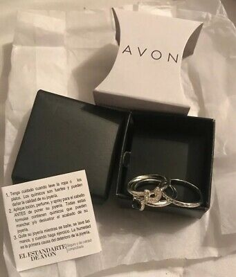 Avon Charming Mystique Ring set SIZE 10 NEW IN BOX Beautiful