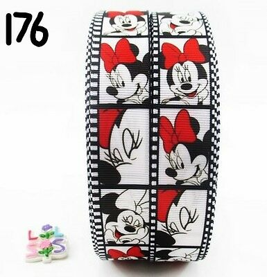 Grosgrain Ribbon Disney Minnie Mouse 25mm Film Strip (1m, 2m or 5m)