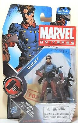 """Marvel Universe Bucky with Classified File 3.75"""" Series 2 Action Figure Hasbro"""