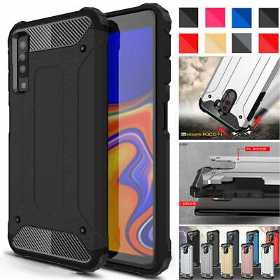 NEW Slim Rugged Plastic Hybrid Armor Shock Case Cover For All Samsung Galaxy