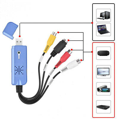 PAL VHS To DVD Adapter Video Capture Card Audio Video Grabber USB 2.0 TV Tuner