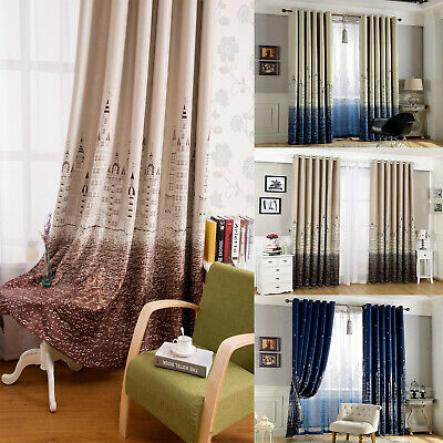 2× Thermal Blackout Pencil Pleat Ready Made Curtains Shade Cloth Eyelet Ring Top