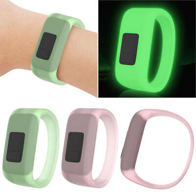 Replacement Luminous Silicone Watch Band Wristband for Garmin Vivofit 3/ JR/JR 2