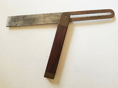 Rosewood & Brass Bevel Square 12  Inch - Early 1900's Vintage