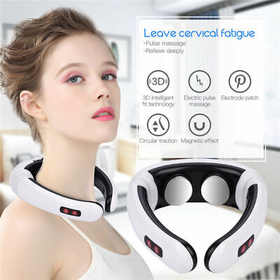 Electric Pulse Neck Acupuncture Meridian Therapy Massager Pain Relief Instrument