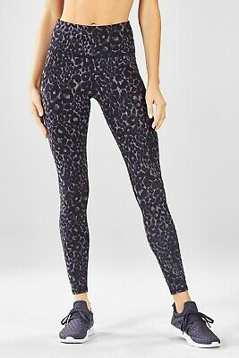 BNWT FABLETICS HIGH-WAISTED Printed PowerHold Leggings in rapid iron ... 175a4efa75c8a