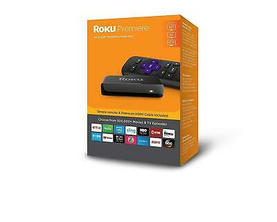 Roku Premiere HD/4K/HDR Streaming Media Player Includes Simple Remote and Premiu