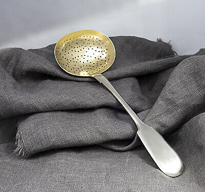 Antique Silver Sifter Spoon Sugar Tea Powder Strainer Russia 84 Ladle Vintage