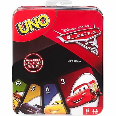 Cars Mattel Disney 3 Uno Card Game Tin (Wrong code in location = U0QR)