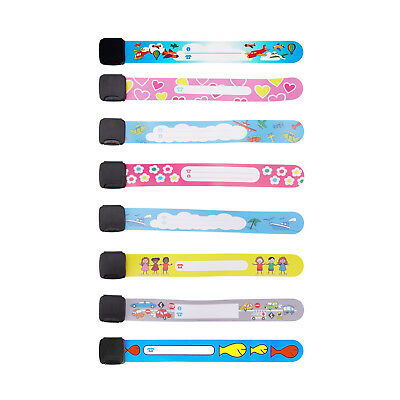 Bands for Kids 8/12 Pack Child Safety ID Wristband Emergency Bracelet Kids Strap
