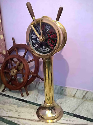 Ship Telegraph Big Vintage Brass Nautical Chadburns Liverpool London 43 ""