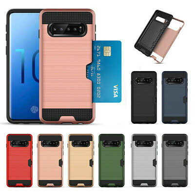 For Samsung Galaxy S10 / S10e / S10+/S9+ Case Cover With Card Wallet Holder Slot