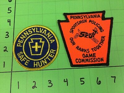 NOS PA PENNSYLVANIA Game Commission Patches Lot Safe Hunter, SPORT Patch  Vintage
