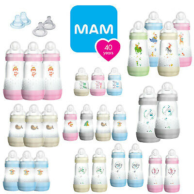 MAM Easy Start Self-Sterilising Anti-Colic Newborn & Baby Feeding Milk Bottle