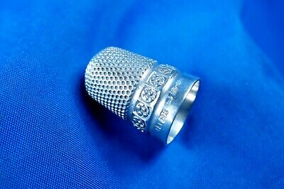A Late Victorian Solid Silver Thimble Size 11 Charles Horner Chester Hallmarks