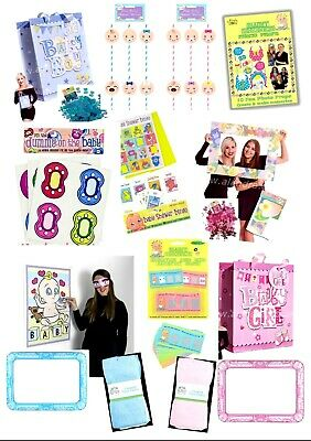 Gender Reveal Baby Shower Party Games/Decorations Boy/Girl Unisex Mum To Be