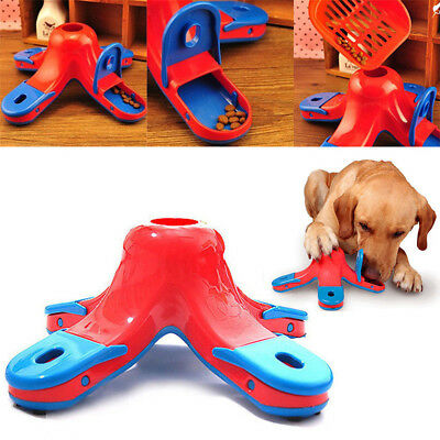 Pet Dog Hound Puppy Food Treat Missing ball Hide Puzzle Training Educational Toy