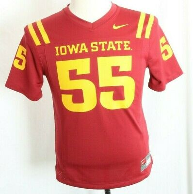 huge selection of 9f1f8 40fd0 NEW Iowa State University Cyclones Crimson Red Nike Youth Football Team  Jersey M
