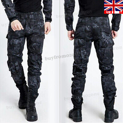 Mens Military Army Combat Trousers Tactical Airsoft Work Camo Pants Cargo UK